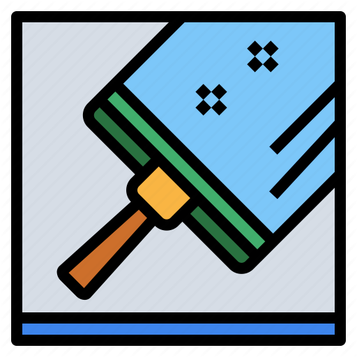 Clean, Glass, Squeegee, Wiper Icon