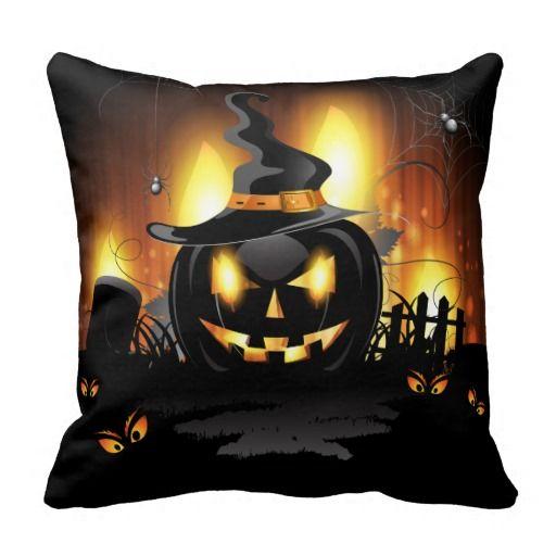 Black Pumpkin Pillow Halloween Party Halloween