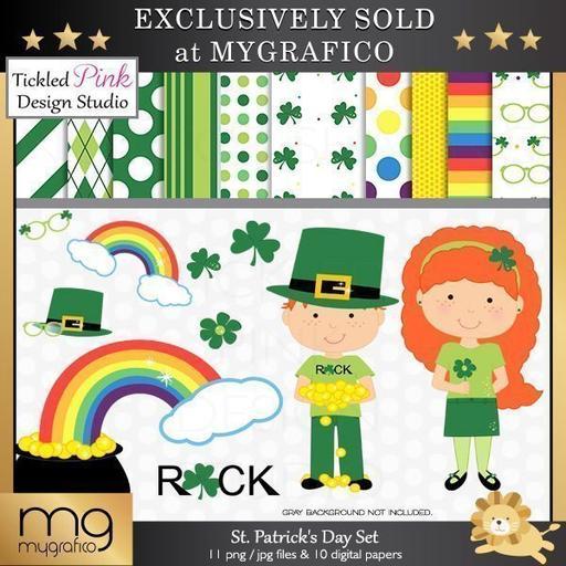 St Patrick's Day Cliparts Mygrafico