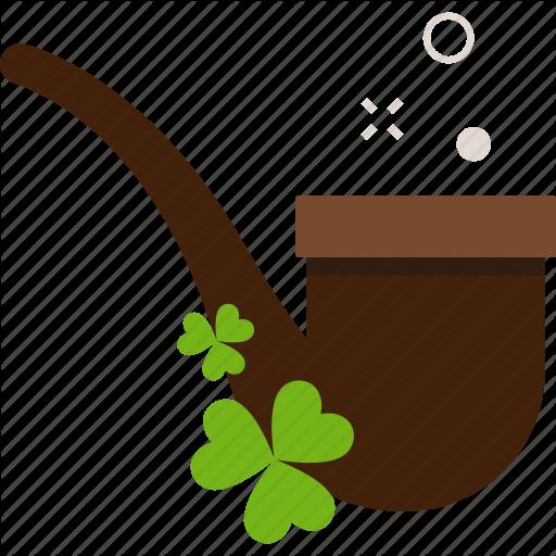 Clover, Patrick, Smoking Pipe, St Patricks Day Icon