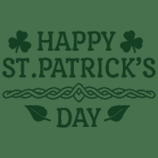 Happy St Patrick Label