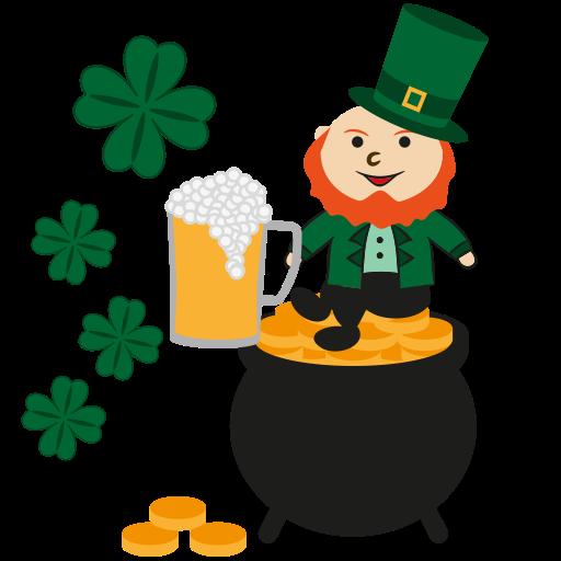 Gold, Happy, Leprechaun, Patrick, Irish, Irish Pot Icon