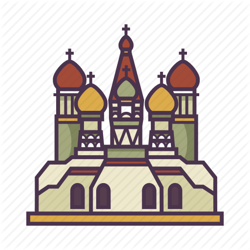Architecture, Church, Landmark, Russia, St Basil's Carthedral Icon