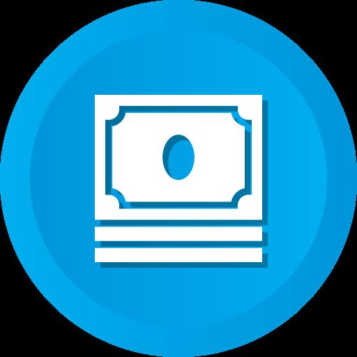 Cash, Dollar, Earnings, Money, Profit, Savings, Stack Icon Free