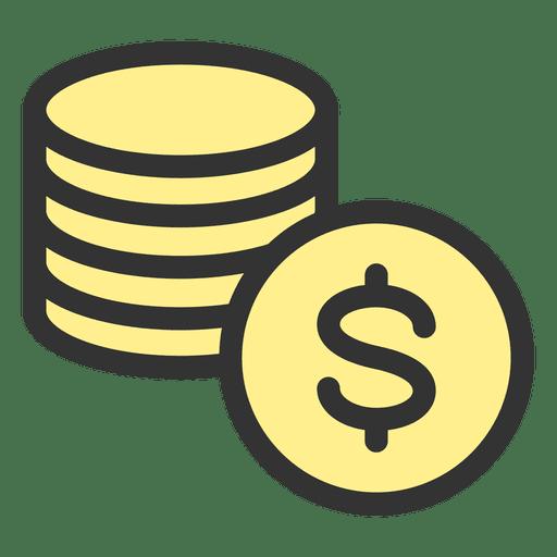 Dollar Coin Stack