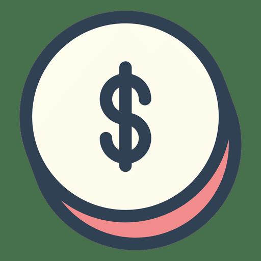 Dollar Money Stroke Icon