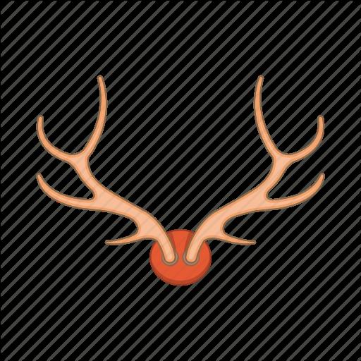 Animal, Antler, Cartoon, Deer, Head, Horn, Stag Icon