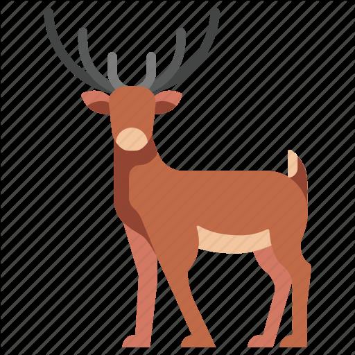 Animal, Antler, Deer, Mammal, Reindeer, Stag, Wildlife Icon