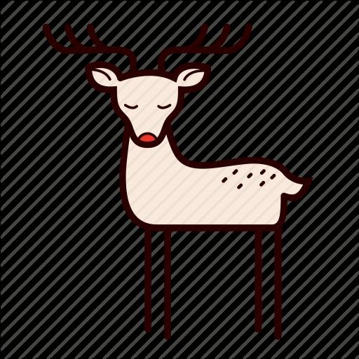 Cartoon, Deer, Reindeer, Rudolf, Stag Icon