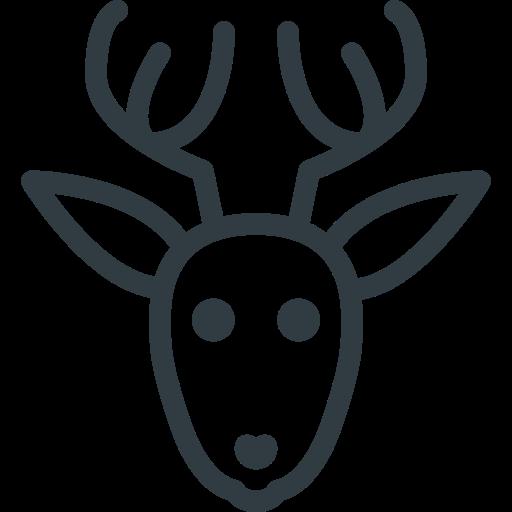 Rudolf, Deer, Christmas Icon Free Of Christmas Line