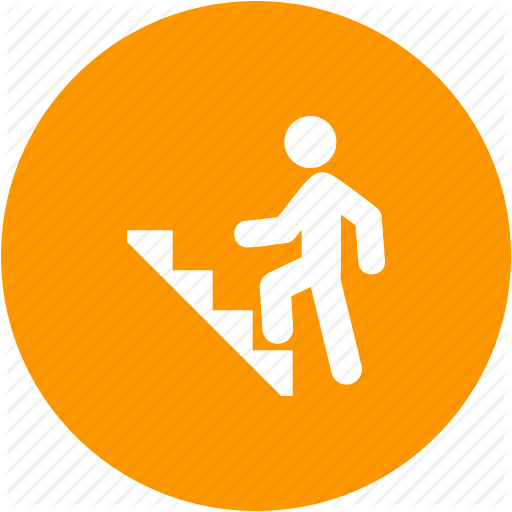 Climb, Climbing, Staircase, Stairs, Step, Success, Walking Icon