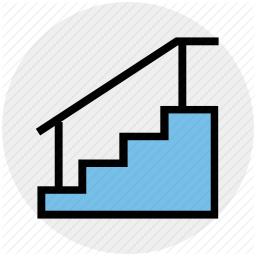 Building, Construction, Floor, House, Staircase, Stairs Icon
