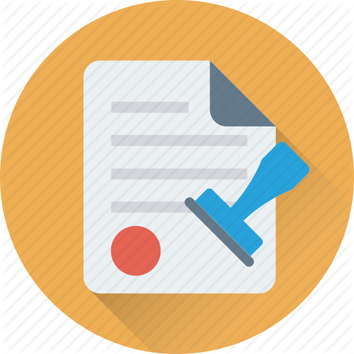 Attestation, Authorized, Contract, Document, Stamp Icon