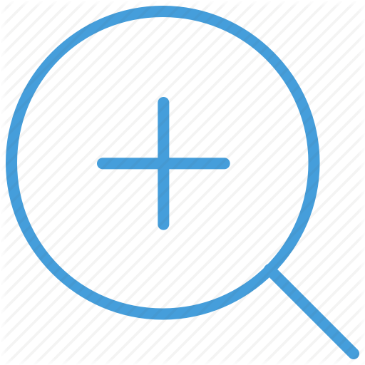 Blue, In, Standard, Ui, Zoom Icon