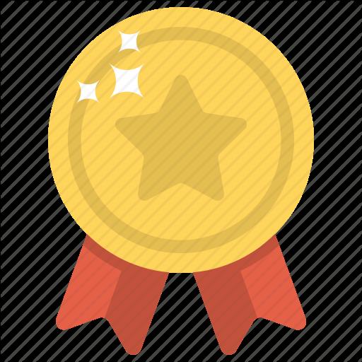 Award, Reward, Ribbon Badge, Star Badge, Winner Badge Icon