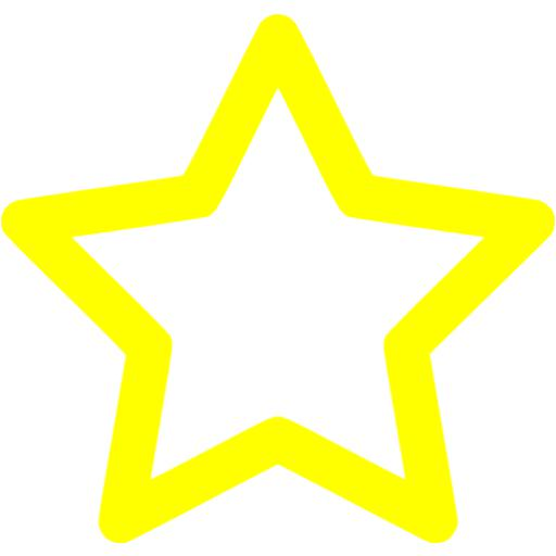 Star Outline Images Yellow Outline Star Icon Free Yellow Icons