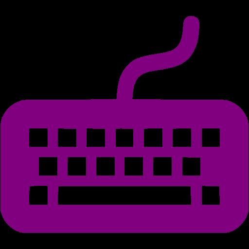 Purple Keyboard Icon