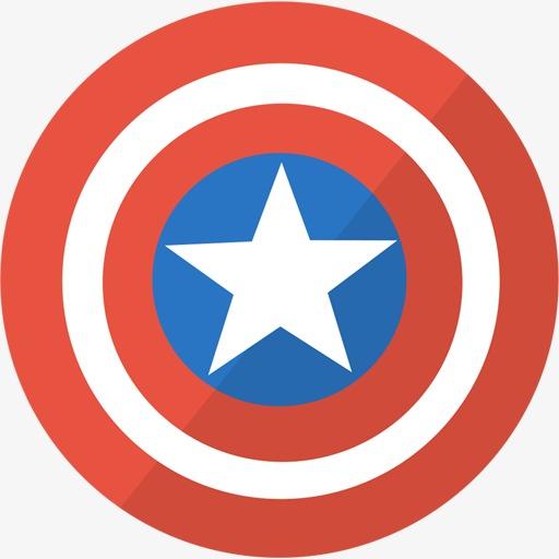 Round Star Icon, Star Clipart, Red Circle, Star Png Image