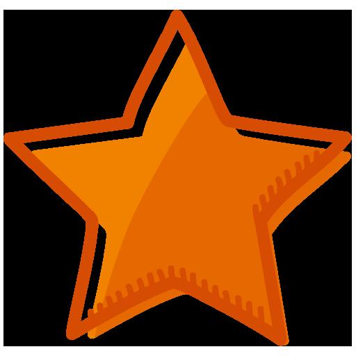 Orange Star Icon Free Icons Download