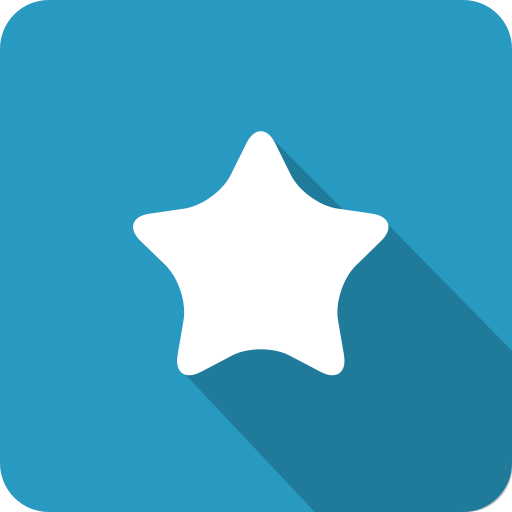 Favourite, Star Icon Free Of Media Player Long Shadow Icons