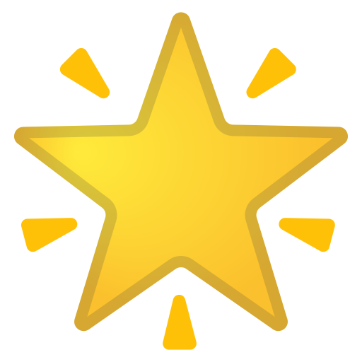 Glowing Star Icon Noto Emoji Travel Places Iconset Google