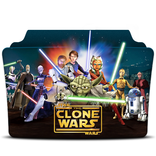 Star Wars The Clone Wars Icon Tv Series Folder Pack Iconset