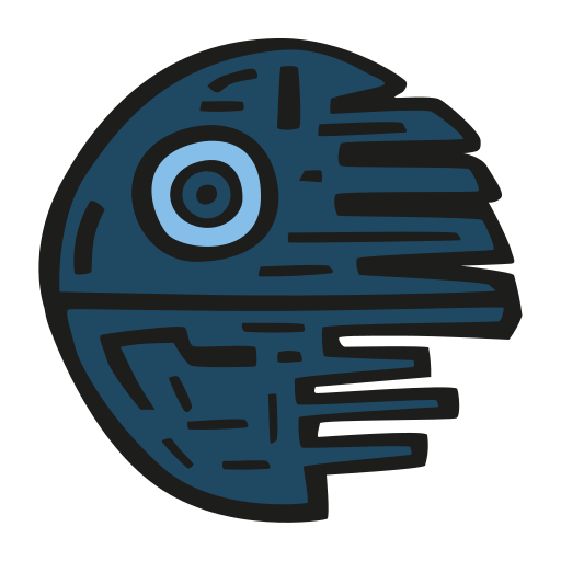 Death, Star Icon Free Of Space Hand Drawn Color Sticker