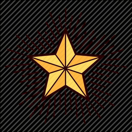 Christmas, Decoration, Shiny, Star, Starburst, Tree Topper Icon