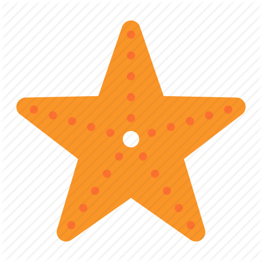Aquatic Animal, Ocean, Sea, Starfish Icon