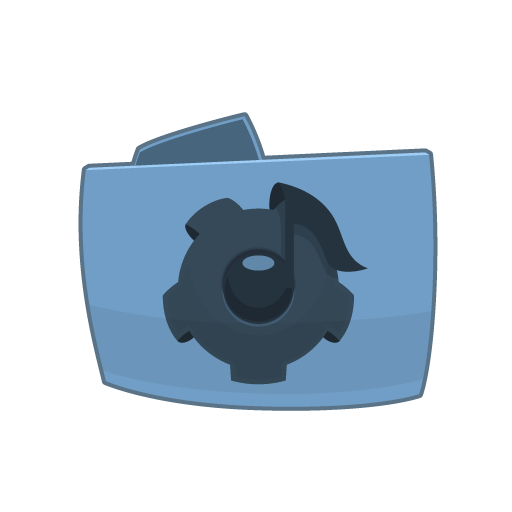 Folder Music Creation Icon