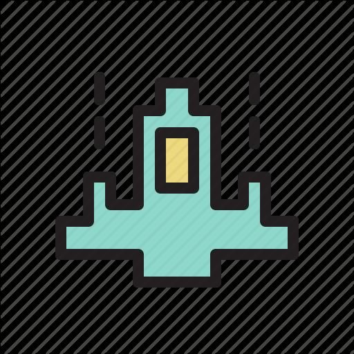 Colored, Game, Games, Retro, Ship, Starship Icon