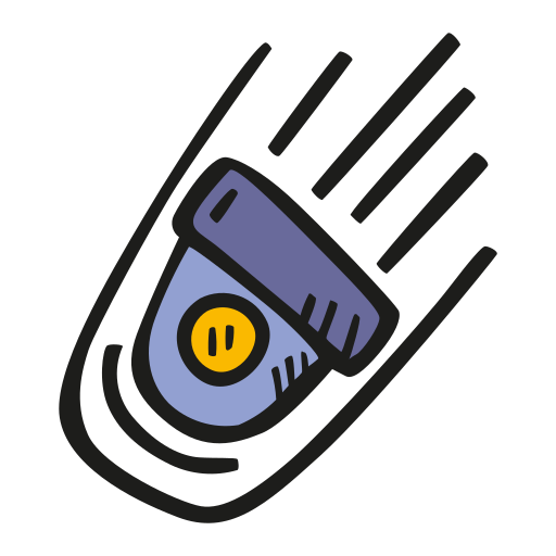 Falling, Space, Capsule Icon Free Of Space Hand Drawn Color Sticker