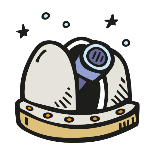 Space, Observatory Icon Free Of Space Hand Drawn Color