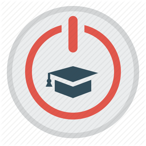 Distance Education, E Learning, Start, Start Button, Student Cap Icon