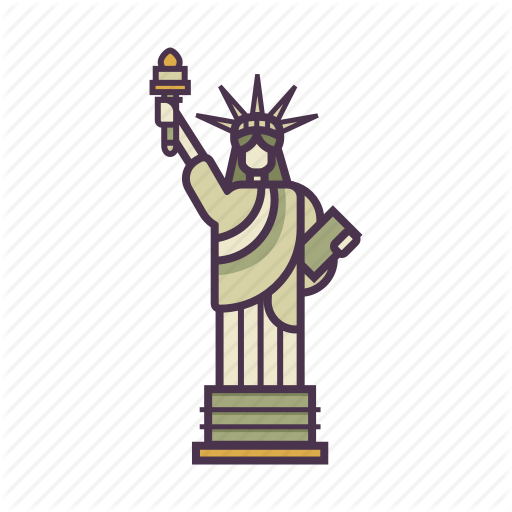 America, Freedom, Landmark, Monument, Statue Of Liberty, Travel Icon
