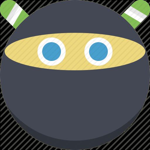 Emoticon, Emotion, Expression, Ninja, Samur Smiley, Stealth Icon