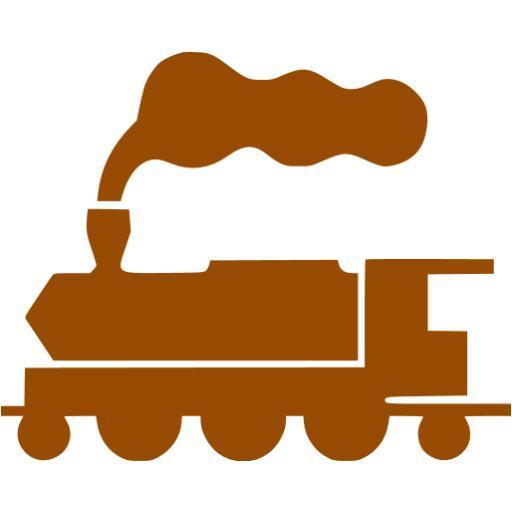 Brown Train Icon