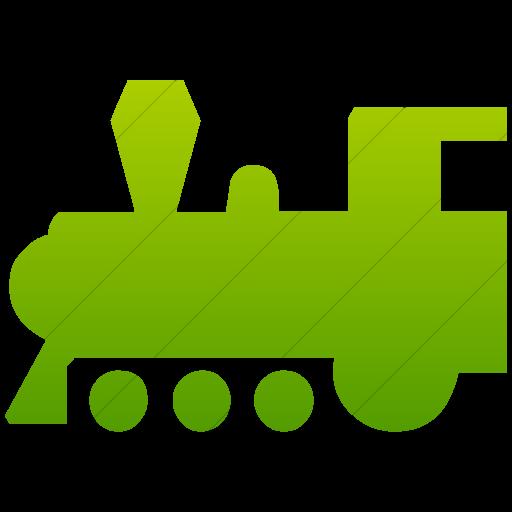 Simple Green Gradient Classica Steam Locomotive Icon