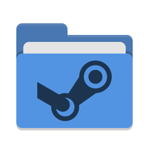 Folder Blue Steam Icon Papirus Places Iconset Papirus