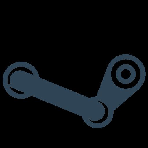 Steam Glyph Black Icon