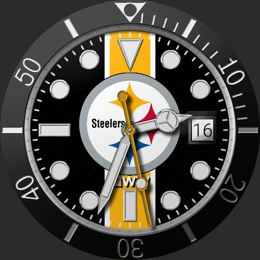 Sports Pittsburgh Steelers Grondin Diver Watchfaces For Smart