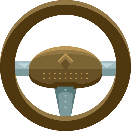 Car, Transportation, Steering Wheel Icon