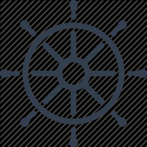 Yacht Clipart Steering Wheel