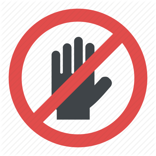 Hand Blocking Sign Stop, Hand Stop Sign, Hand Stop Symbol, No