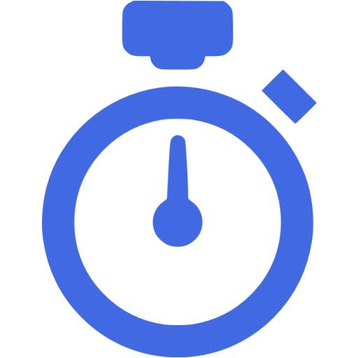 Royal Blue Stopwatch Icon
