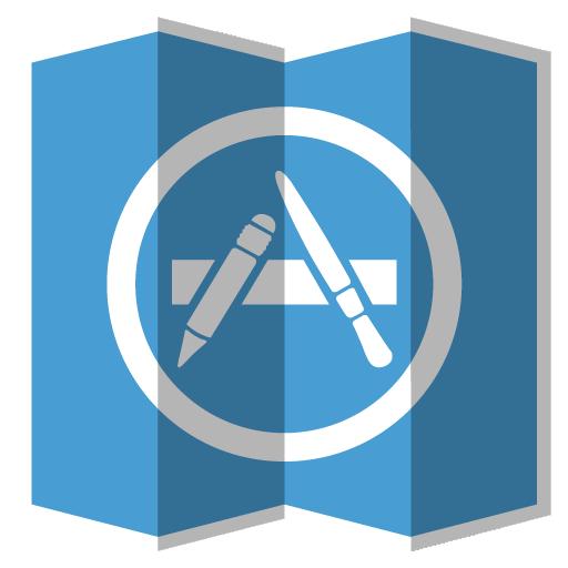 App Store Icon Folded Social Media Iconset Designbolts