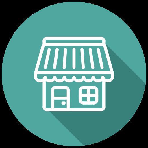 Bakery, Cafe, Eshop, Market, Shop, Store Icon