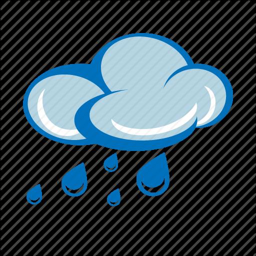 Cloudy, Forecast, Light Rain, Rain Cloud, Rainy, Storm, Weather Icon