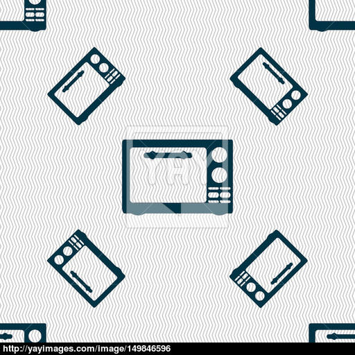 Microwave Oven Sign Icon Kitchen Electric Stove Symbol Seamless