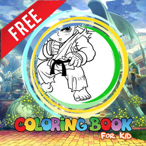 Coloring Family Friendly For Ken Street Fighter